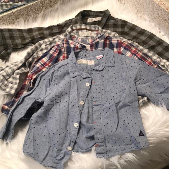 ✨Bundle ✨4 Zara baby boy dressy shirts 848ffb754a0
